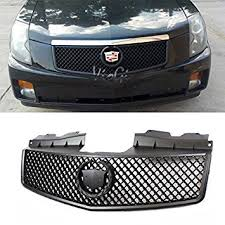 cadillac cts emblem buy mifeier fit 03 07 cadillac cts luxury v style black abs grill