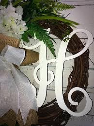 monogram wreath wreath summer wreath everyday wreath hydrangea wreath