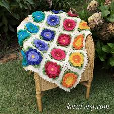 Crochet Patterns For Home Decor Crochet Pattern Baby Blanket Afghan Pattern With Big Bright