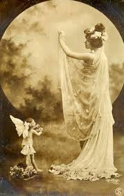 the moon goddess early 1900s postcard by reutlinger mara clear