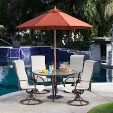 Patio Furniture 5 Piece Set - outdoor patio furniture 5 piece dining set with 4 padded sling