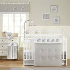 laugh giggle u0026 smile elephant chic 11 piece crib bedding set