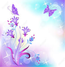 floral background with butterfly royalty free cliparts vectors