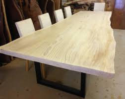 Slab Wood Table by Live Edge Dining Table Redwood Dining Table Wood Slab