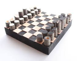 wooden chess board etsy