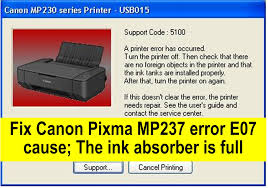 how to fix ink absorber is full on mp237 youtube
