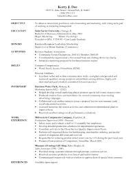 Sample Resume Objectives For Marketing Job by Goal On Resume Sample Job Resume Objectives Resume Objective