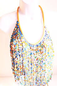 coloured statement necklace images Multi coloured bead layered bib statement necklace funkynchunky JPG