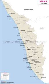 Map Of States With Capitals by Cities In Kerala Kerala City Map