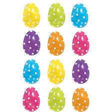 fillable easter eggs plastic polka dot fillable easter eggs candle cake party shop