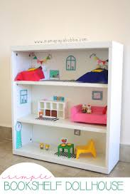 How To Make Doll House Furniture A Bookshelf Dollhouse For Miss G Mama Papa Bubba