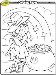 leprechaun u0027s pot of gold coloring page crayola com