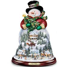 kinkade wondrous winter musical snowman