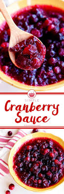 simple cranberry sauce recipe food folks and