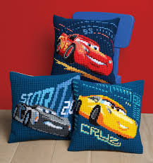 Lightning Mcqueen Rug Front Cushion Cars Lightning Mcqueen From Vervaco Cushions