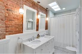 How To Clean Painted Bathroom Walls How To Make An Interior Brick Wall Work
