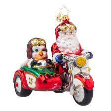 radko 1017663 motorcycle chums santa penguin a
