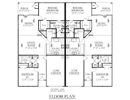 Single Family House Plans by Houseplans Biz House Plan D1261 A Duplex 1261 A