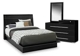 Bed Set With Drawers by Dimora 5 Piece Queen Panel Bedroom Set With Media Dresser Black