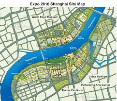 Map Of Shanghai Map Of Shanghai World Expo 2010 China
