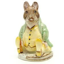 samuel whiskers beswick beatrix potter figurine seaway china