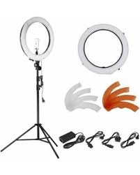 neewer led ring light huge deal on neewer 18 inches 55w led 5500k dimmable ring light kit