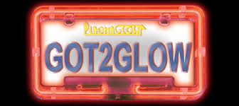 motorcycle license plate frame with led brake light neon license plate frame plasmaglow