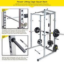 amazon com merax athletics fitness power rack olympic squat cage