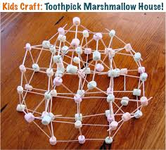 toothpick house toothpick marshmallow house craft fun boredum buster the frugal