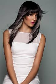 hairstyles with grey streaks black hair with grey streaks hair pinterest gray streaks