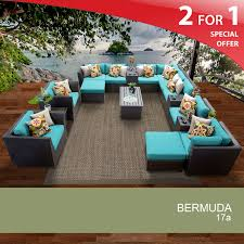 Wicker Patio Furniture Set - bermuda 17 piece outdoor wicker patio furniture set 17a