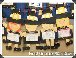 thanksgiving activities for first graders thanksgiving pilgrim and turkey crafts first grade blue skies