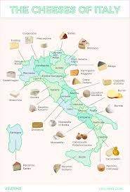 The Map Of Italy by Map The Iconic Cheeses Of Italy Vinepair