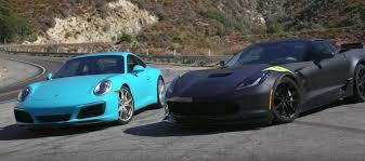 porsche 911 vs corvette c7 corvette grand sport vs porsche 911 gm authority