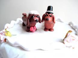 dog cake toppers dachshund wedding cake topper dog cake topper 2579932 weddbook