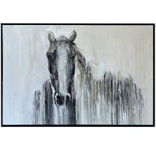 l harps and finials horse framed canvas beckman s