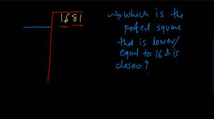 finding square root of number using long division method youtube
