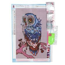 Owl Item by Living Room 5d Full Diamond Plated Embroidery Animal Owl Pattern