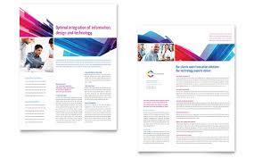 software solutions tri fold brochure template design