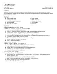 Construction Resume Examples by Effective Apprentice Carpenter Electrician Construction Resume