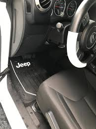 jeep logo alterum wrangler jeep logo elite front floor mats j102021 87 17