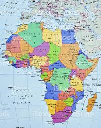 African Continent Map Africa Map Pictures Images And Stock Photos Istock