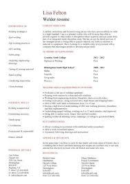 Resume Template Online Website Paper Welder Resume Template