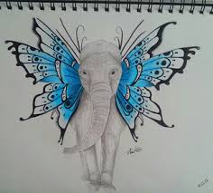finished my elephant with butterfly ears xd my ideas are kinda