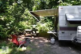 Hardtop Awnings For Trailers Tips For Camping In A Travel Trailerfunky Junk Interiors