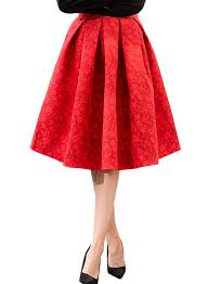 pleated skirt fashion women knee length structured pleated skirt azbro