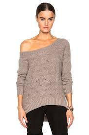 open shoulder sweater theperfext flatbush open shoulder sweater in latte fwrd