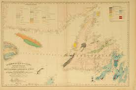 Newfoundland Canada Map by Geological Map Of Canada And Newfoundland Derived From The