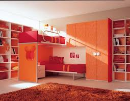 Bookcase For Boys Boys Bedroom Drop Dead Gorgeous Red And Orange Kid Bedroom Design