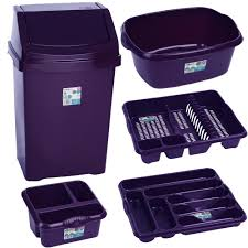 Purple Kitchen Canister Sets by Purple Dish Drainer Violet Kitchen Bin And Washing 5 Piece Set